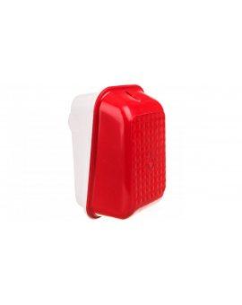 Oprawa kanałowa ostrzegawcza SKOŚNA 1x60W, klosz czerwony D.3182C