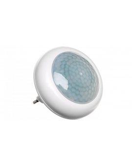 Lampka nocna wtykowa LED 0, 5W z czujnikiem zmierzchowym biała PIR LX-LD-108P P3304