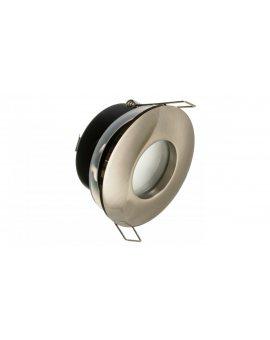Oprawa sufitowa wpuszczana okrągła DZETA hermetyczna IP44 chrom mat (stop aluminium) LUX01240
