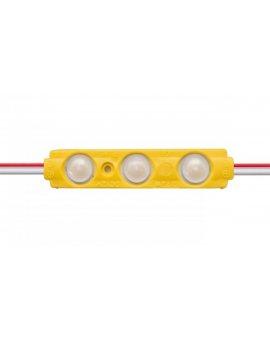 Moduł 160 stopni 3 led smd 2835 0, 72W żółty 12V DC do reklam kasetonów LUX06590