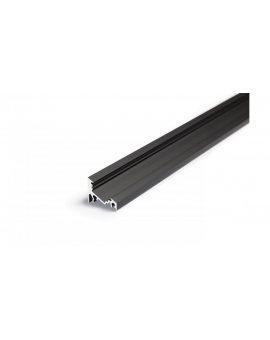 Profil aluminiowy led Corner10 narożny kątowy 30/60 stopni czarny anodowany TOPMET LUX01527 /2m/