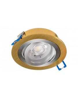 Oprawa halogenowa sufitowa wpuszczana okrągła OPAL złota (aluminium) LUX01291