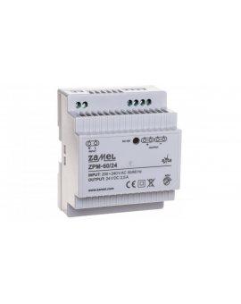 Zasilacz impulsowy TH-35 60W 24V DC ZPM-60/24 EXT10000211