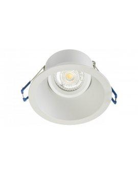 Oprawa sufitowa wpuszczana okrągła ROMA biała matowa (stop aluminium ) LUX05438