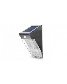 Lampa solarna ścienna 4 SMD Maclean Energy z czujnikiem ruchu MCE167 inox MCE167