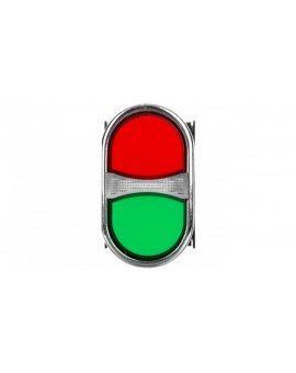 Przycisk dwuklawiszowy 1Z 1R czerwono-zielony T0-B102K20KY
