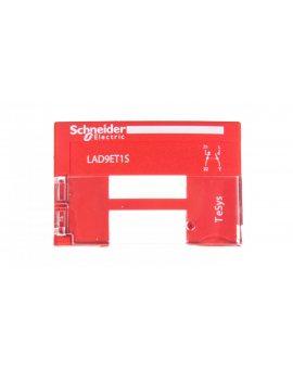 Pokrywa zabezpieczająca do styczników LC1D09-D65 czerwona PREVENTA LAD9ET1S