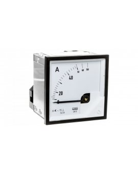 Amperomierz analogowy tablicowy 50/100A do przekładnika 50/5A 72x72mm IP50 C3 K=90 st. EA17N F41300000000