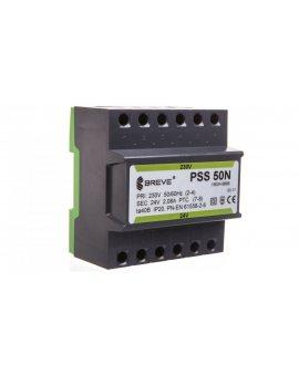 Transformator 1-fazowy modułowy PSS 50N 50VA 230/24V /na szynę/ 16024-9888