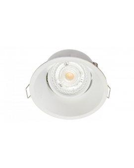 Oprawa sufitowa wpuszczana okrągła TORINO biała matowa (stop aluminium ) LUX05435