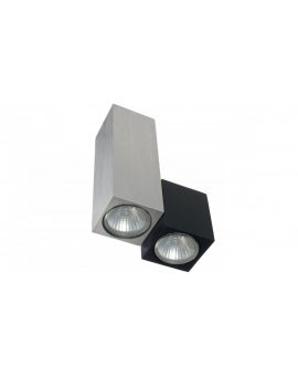 Oprawa Kinkiet SALEM 2 x gu10 srebrno - czarna aluminium szczotkowane CL121lblgu10