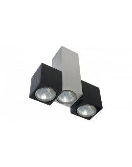 Oprawa Kinkiet SALEM 3 x gu10 srebrno - czarna aluminium szczotkowane CL122lblgu10