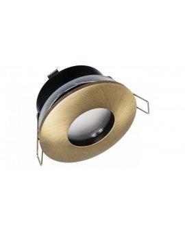 Oprawa DZETA okrągła hermetyczna mosiądz stop aluminium i cynku IP44 do łazienki na podbitkę LUX05433