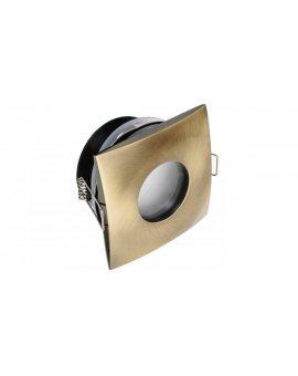 Oprawa OMIKRON kwadrat hermetyczna mosiądz stop aluminium i cynku IP44 do łazienki na podbitkę LUX06564