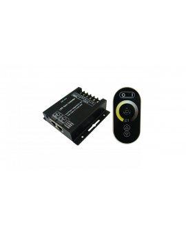 Kontroler LED DUAL-WHITE RF 192W 12V czarny pilot radiowy dotykowy multiwhite dualwhite do taśmy led ciepło zimnej LUX06131