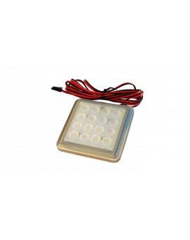 ODYN Oprawa meblowa LED 1, 5W 12V DC kwadrat zimna biała podszafkowa LUX05034