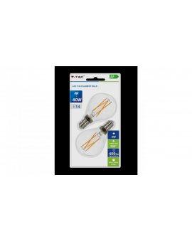 Żarówka Dekoracyjna LED FILAMENT VT-2184 4W E14 P45 2700K 400lm A+ 300st. 7366