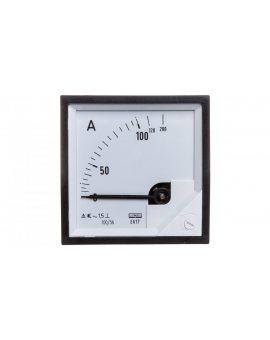 Amperomierz analogowy tablicowy 100/200A do przekładnika 100/5A 72x72mm IP50 C3 K=90 st. EA17N F41600000000