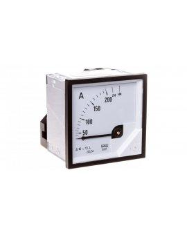 Amperomierz analogowy tablicowy 200/400A do przekładnika 200/5A 72x72mm IP50 C3 K=90 st. EA17N F41800000000