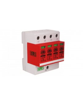 Ogranicznik przepięć B+C Typ 1+2 4P 275V 60kA 1, 5kV EL30B+C Typ 1+2 VG 4P