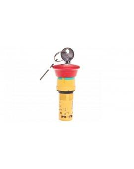 Przycisk bezpieczeństwa 22mm 2R IP65 klucz XB7NS9444