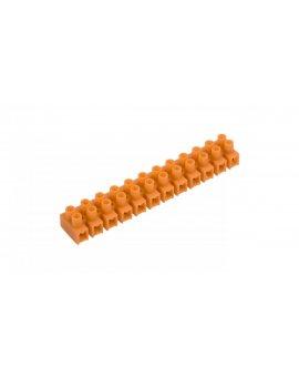 Listwa zaciskowa gwintowa 12-torowa 6mm2 pomarańczowa LTF 12-6.0 21412108