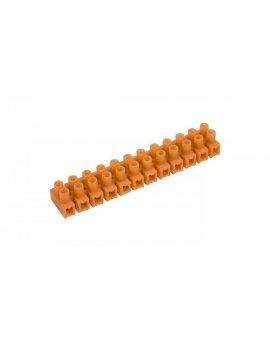 Listwa zaciskowa gwintowa 12-torowa 4mm2 pomarańczowa LTF 12-4.0 21310108