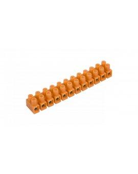 Listwa zaciskowa gwintowa 12-torowa 10mm2 pomarańczowa 400V LTF 12-10.0 21512108