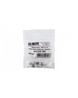 Końcówka tulejkowa izolowana HI 0, 5/8 DIN biała E08KH-02010111621 /100szt./
