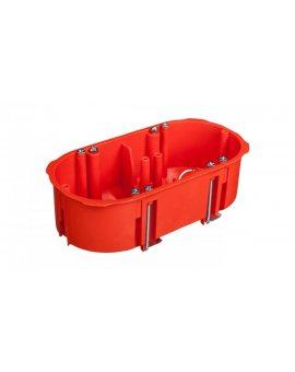 Puszka podtynkowa 2x60mm p/t regips pomarańczowa PK-2x60 0210-00