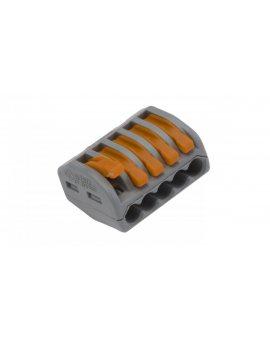 Szybkozłączka 5x 0, 08-4mm2 z dźwigniami zwalniającymi jasnoszara 222-415 /40szt./