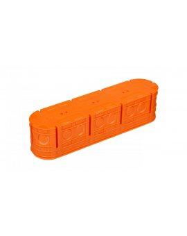 Puszka podtynkowa poczwórna 60mm ze śrubami pomarańczowa M4x60F 33170008