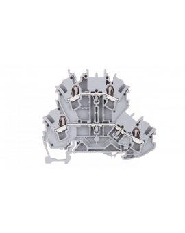 Złączka szynowa 2-piętrowa 2, 5mm2 szara L/L 2002-2201 TOPJOBS