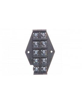 Płytka odgałęźna ZPT /10mm2/ 5-torów czarna ZPT 5-10.0 83006007