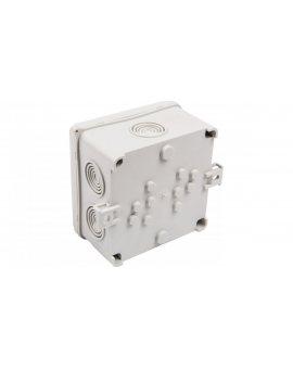 Puszka n/t hermetyczna pusta 93x93x55mm IP54 z dławicą zintegrowaną szara N 90x90F 35220002