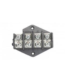 Pierścień rozgałęźny 4x10mm2 czarny 0953-00