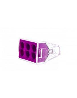 Szybkozłączka 6x 2, 5mm2 fioletowa 773-106 /50szt./