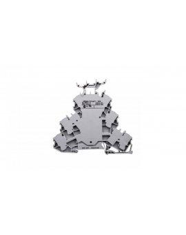 Złączka szynowa 3-piętrowa 2, 5mm2 szara L/L/L TOPJOBS 2002-3231