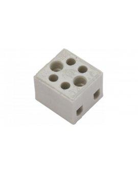 Złączka gwintowa porcelanowa 2, 5mm2 2-tory biała ZPA 2-2.5A 44242516