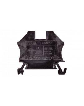 Złączka szynowa 2-przewodowa 2, 5mm2 czarna EURO 43408BK