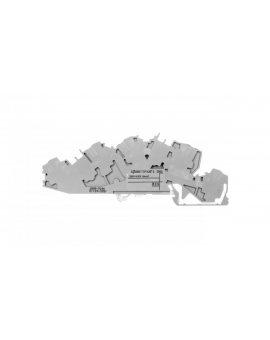Złączka szynowa 3-piętrowa 6mm2 N/L/PE szara 2005-7646 TOPJOBS