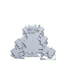 Złączka szynowa 3-piętrowa 2, 5mm2 L/L/N szara 2002-3203 TOPJOBS