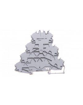 Złączka szynowa 4-pietrowa 7-zaciskowa 2, 5mm2 L/L/L/PE szara 2002-4127 TOPJOBS