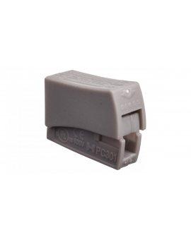 Szybkozłączka 1x0, 5-2, 5mm2 jasnoszary PC301-CL 89006002 /100szt./