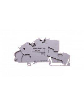 Złączka szynowa 2-pietrowa 2, 5mm2 N/L szara 2003-7649 TOPJOBS