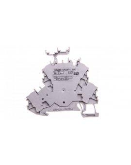 Złączka szynowa 2-piętrowa L/L 2, 5mm2 szara 2002-2231 TOPJOBS