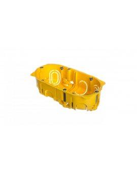 Puszka 60mm p/t regips 60mm 142x 40mm żółty Batibox 080042
