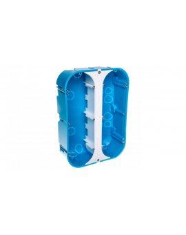 Puszka osprzętowa sześciopolowa P6x60D niebieska 32174203