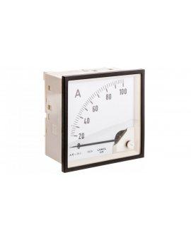 Amperomierz analogowy 96x96 N IP50 E416 100A 100/5 pozycja pracy C3 K=90 st. bez atestu KJ EA19N E41600000000