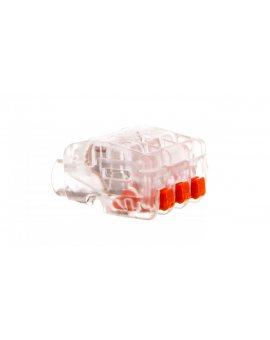 Szybkozłączka 3-torowa 0, 2-2, 5mm2 450V 24A bezhalogenowa transparentna 61 325 FL 2054454 /75szt./